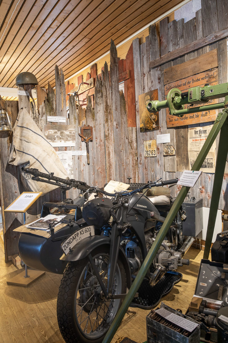 Tysk motorsykkel fra krigens dager, nemlig en Zundapp KS600 © Kathrine Sørgård