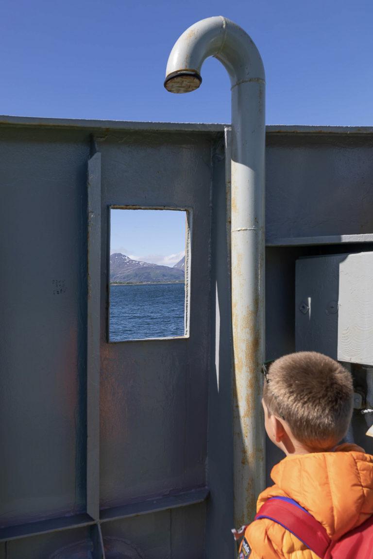 Selv åtteåringer har utsikt © Kathrine Sørgård