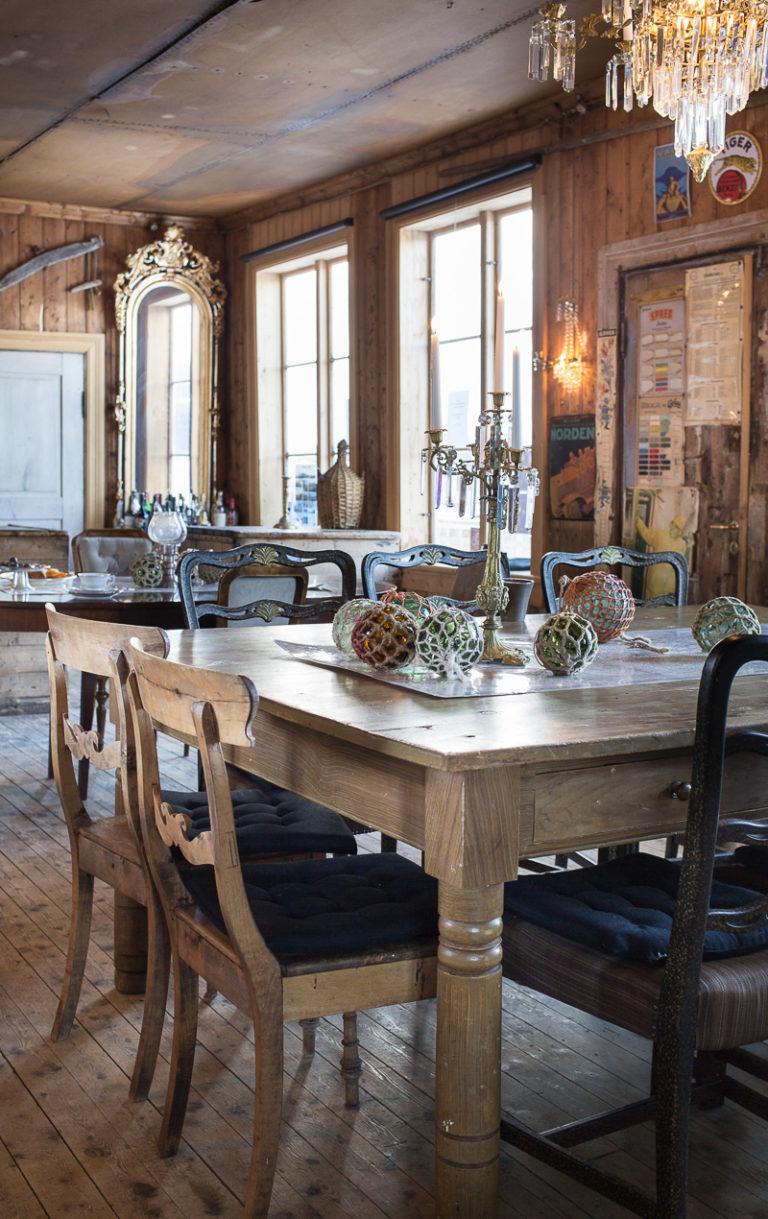 Ånd inn historien på Støtt handelssted med restauranten i den gamle butikken © Kathrine Sørgård