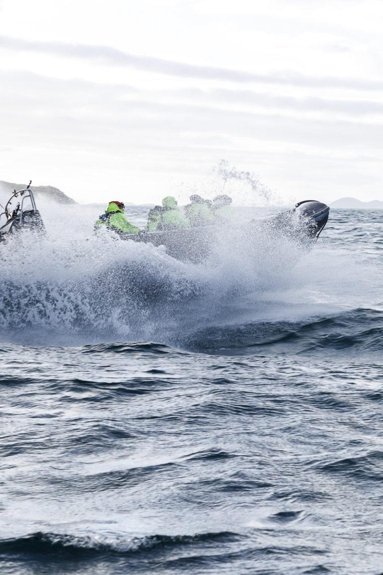 Sjøsprøyt på RIB-tur © Kathrine Sørgård