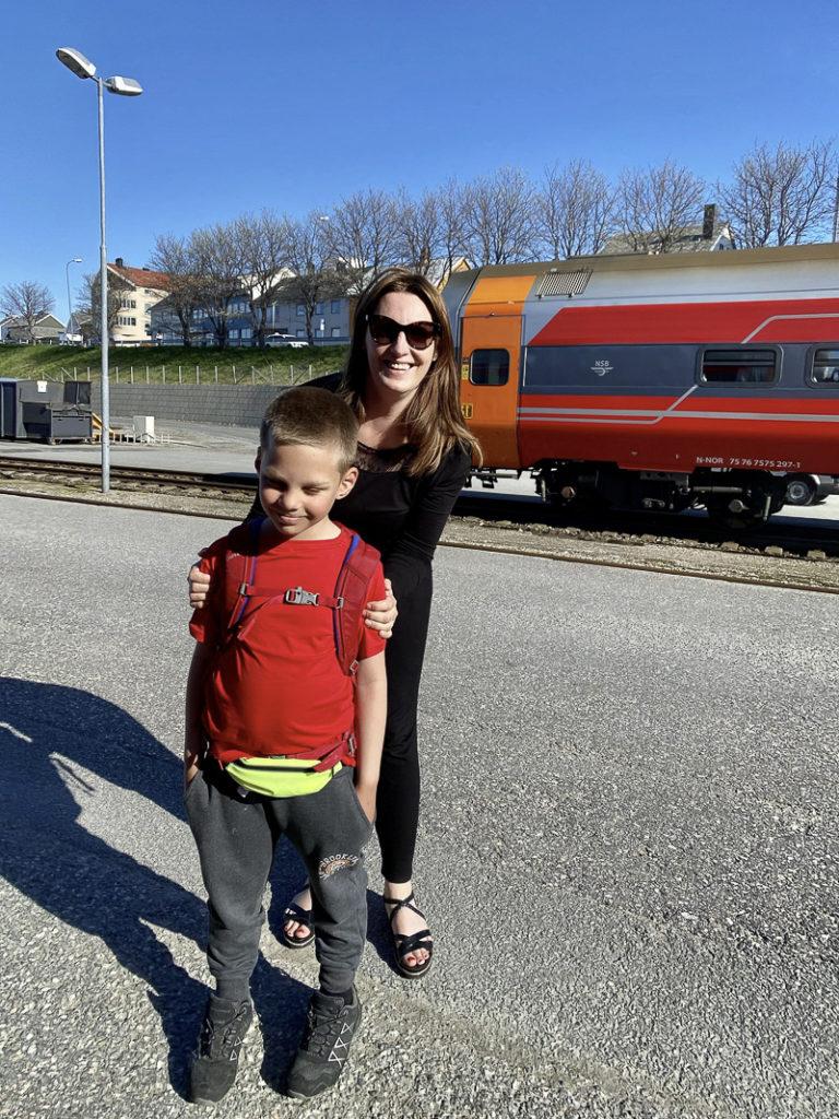 Med tante på vei mot nord © Kathrine Sørgård