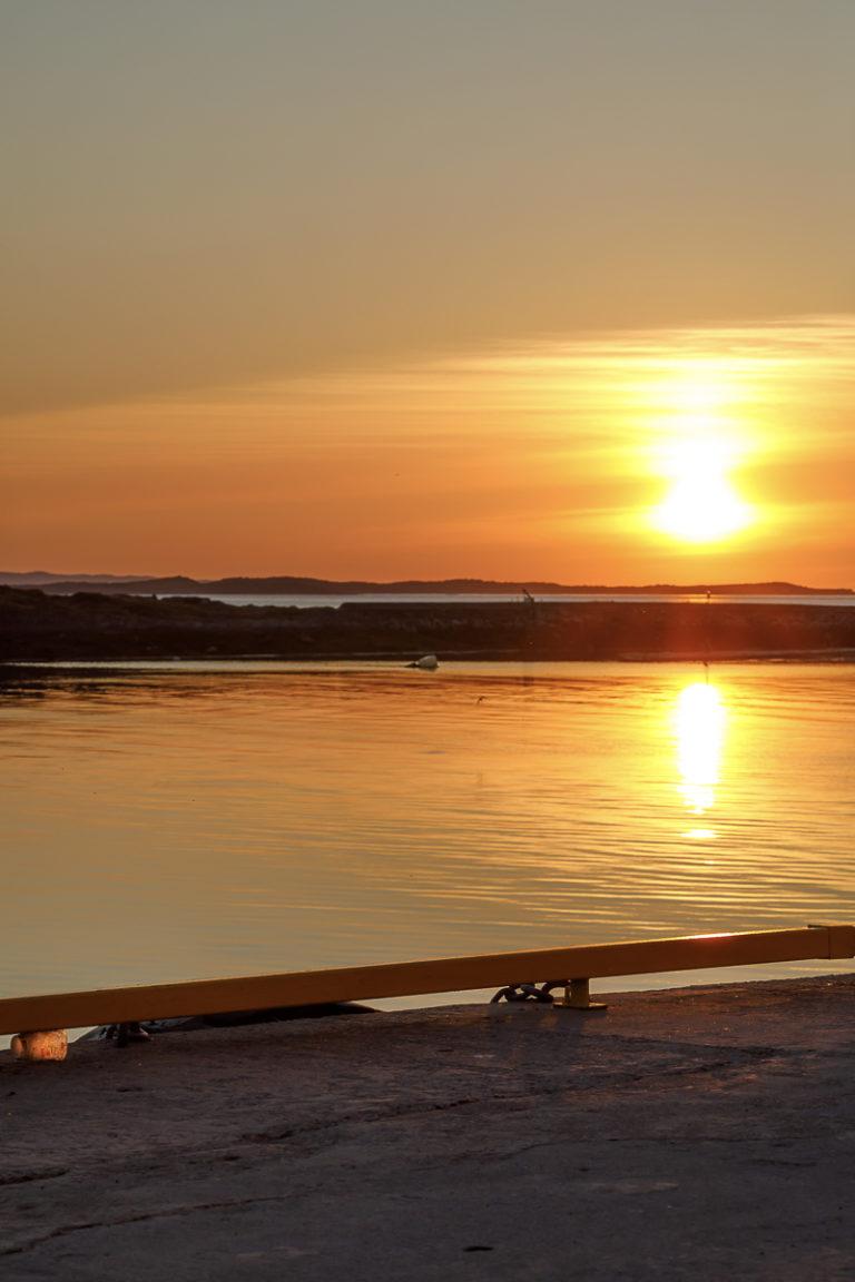 Solnedgang sett fra Brønnøysund © Kathrine Sørgård