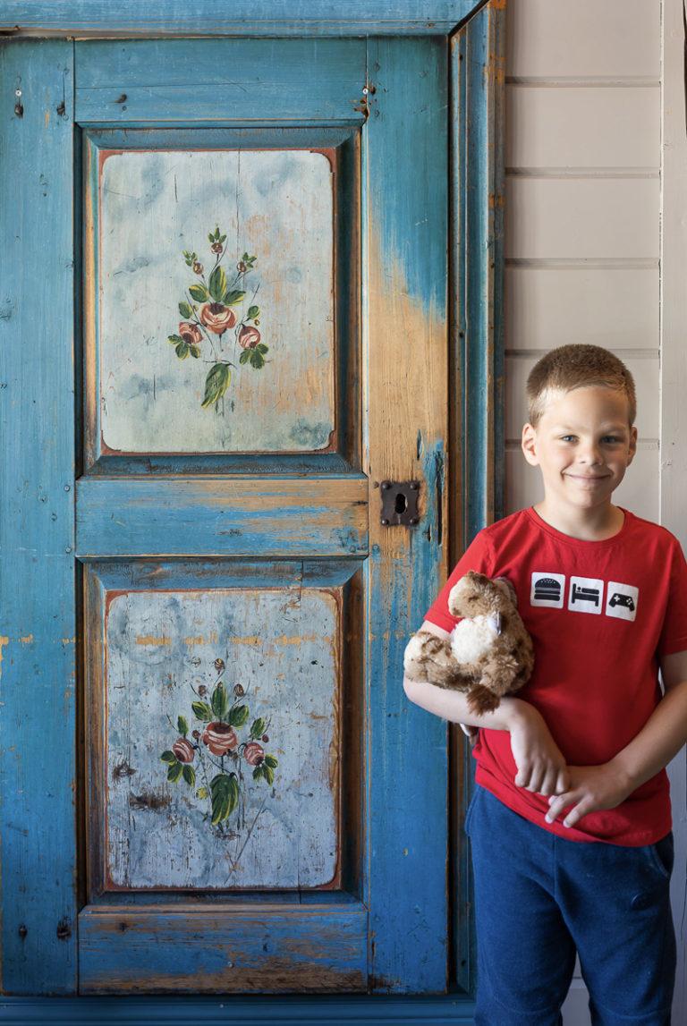 Døren har en spesiell historie, som mye annet her © Kathrine Sørgård