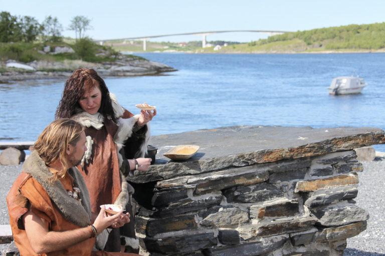 Slik så det ut ved Saltstraumen for 10 000 år siden. Minus brua  © Kathrine Sørgård