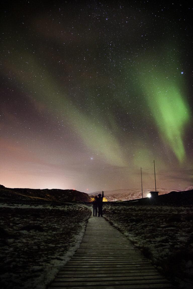 The Northern Lights above Salen Mountain in Hammerfest © Ziggi Wantuch