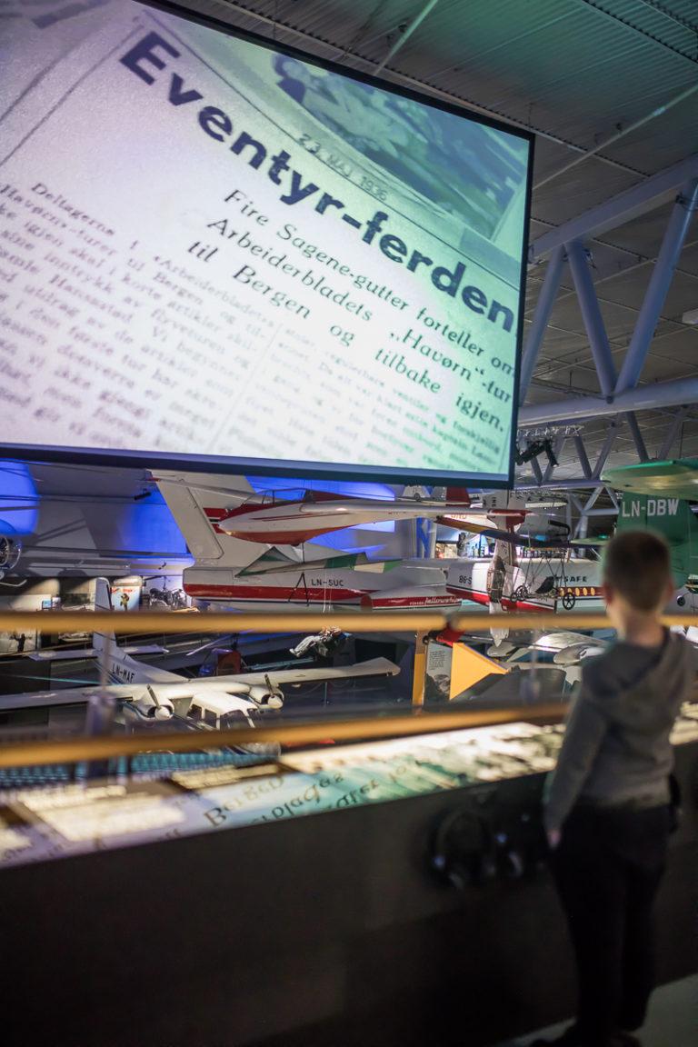 Luftfartsmuseet forteller om løst og fast fra hele vår flyhistorie © Kathrine Sørgård