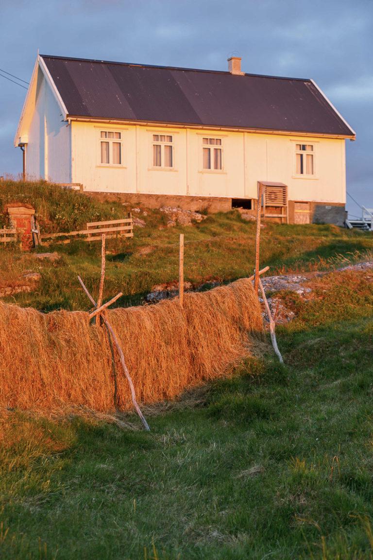 Hesjer og bedehus i kveldslys © Kathrine Sørgård