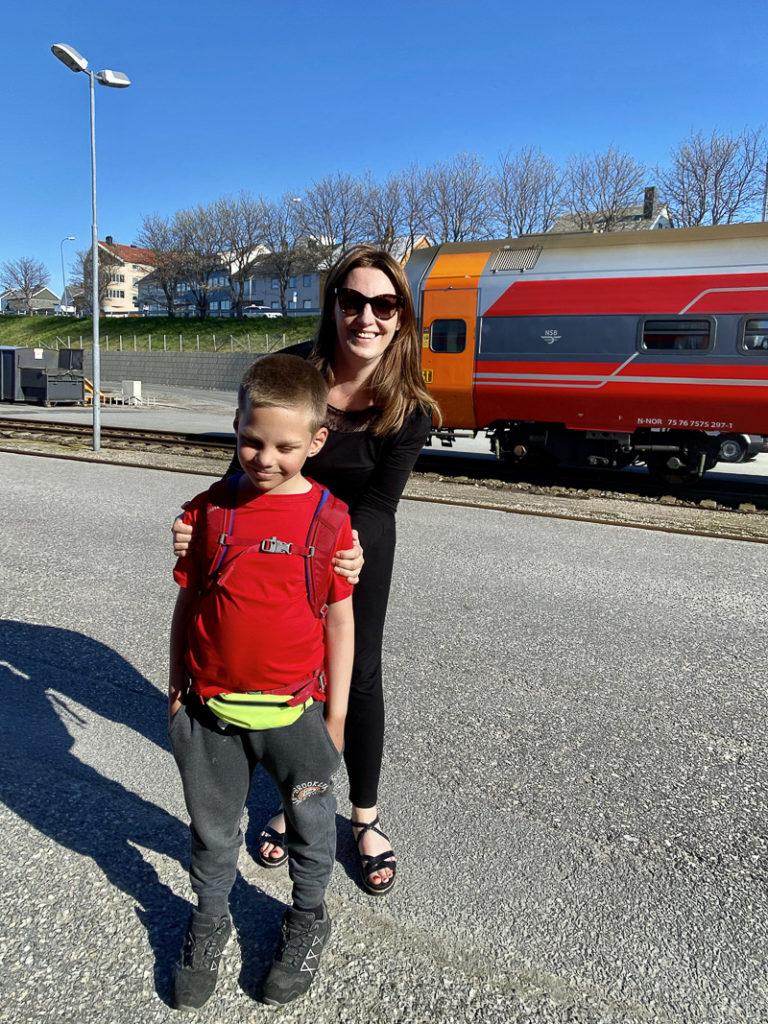 På Bodø stasjon, der det norske jernbanenettet slutter © Kathrine Sørgård