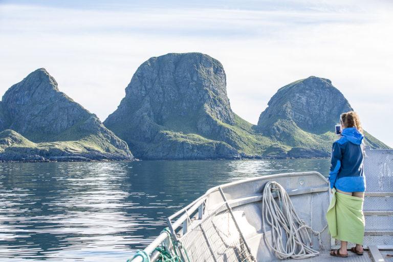 Trenyken er en av de høyere øyene på Røst © Kathrine Sørgård