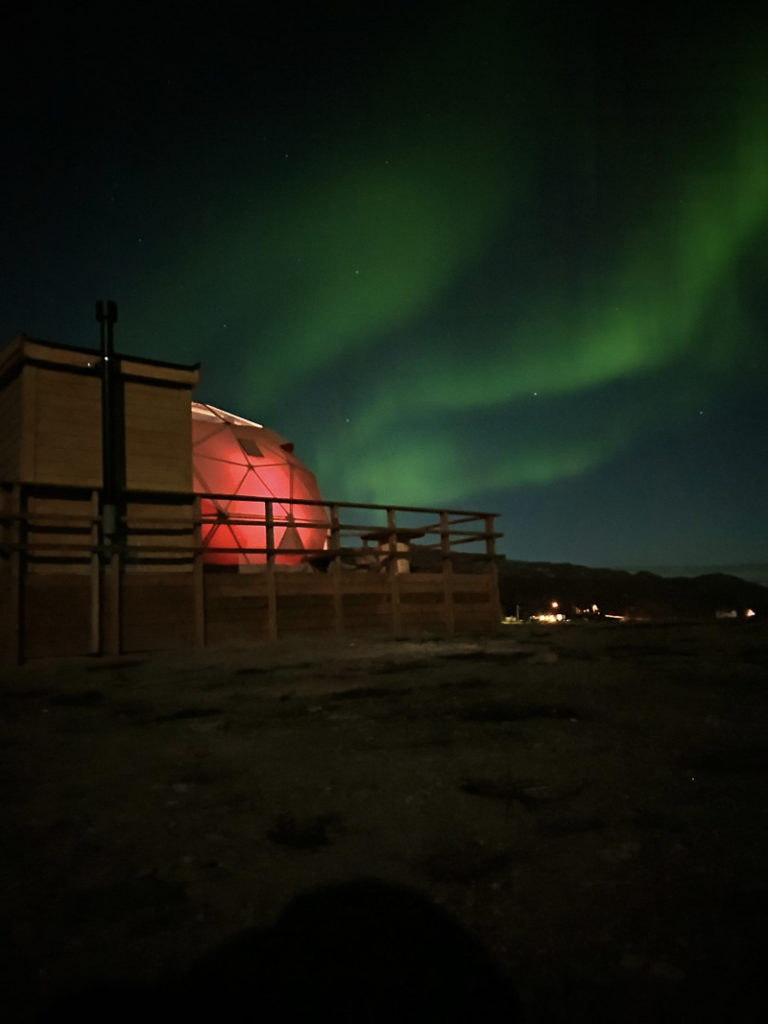 Kokelv is found far away from cities and light sources, so here it's good to see the Northern Lights © Aurora Glamping