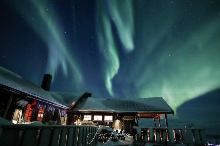 Northern Lights over somebody's second home © Jim Johansen