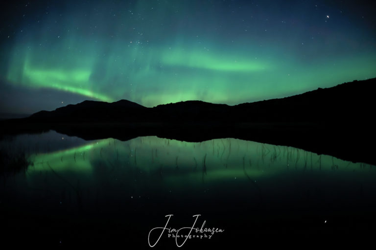 Northern Lights and a calm autumn lake © Jim Johansen