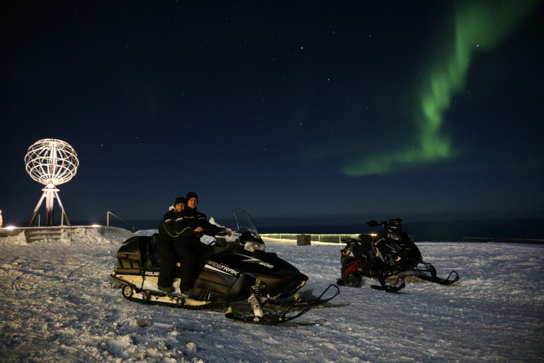 Seeing the Northern Lights at the North Cape is far from guaranteed, but some are lucky ©www.71-nord.no