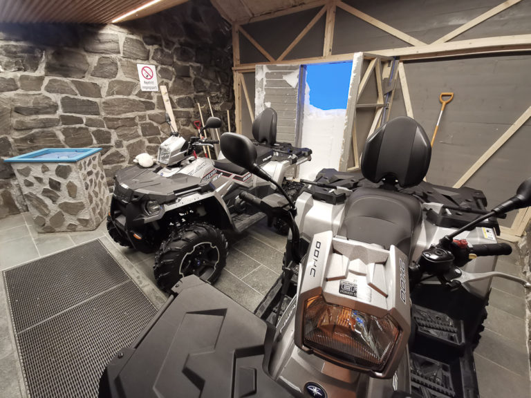 ATV parking. If the vehicles were to be found after the storm, they had to be indoor © www.71-nord.no