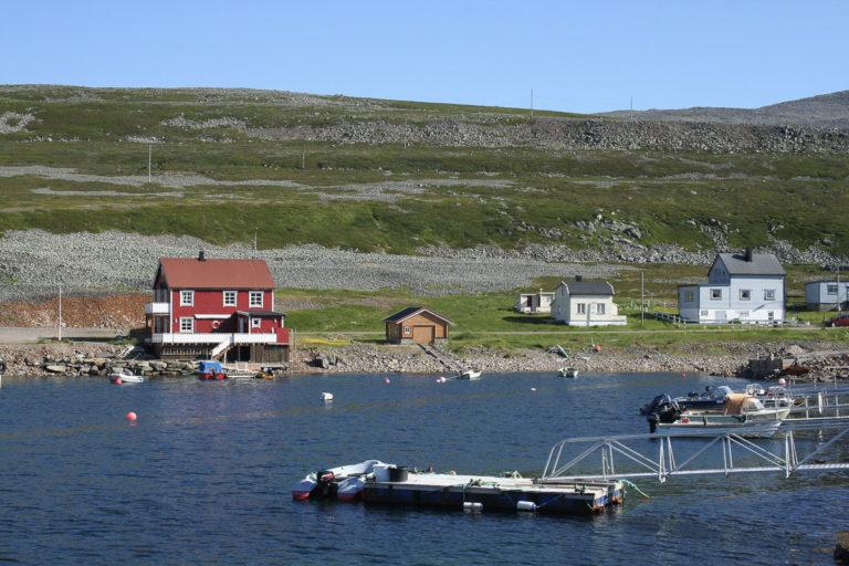 Det bor ikke mange i Kongsfjord, men de synes godt i et øde varangerlandskap © AM Hellberg Moberg