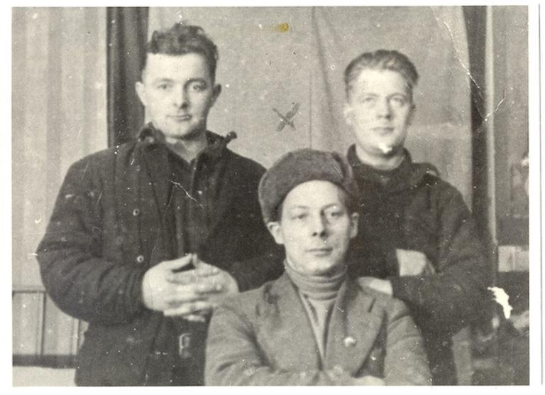 Ingolf Eriksen, Oskar Karila and Rangvald Figenschau, three partisans from the Langbunes group, one of the partisan groups.