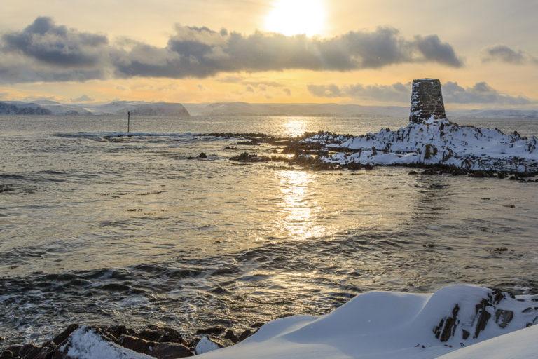 Now the sun has returned, and the bright winter can start © Honningsvåg Bilder ved Kjell Bendik Pedersen