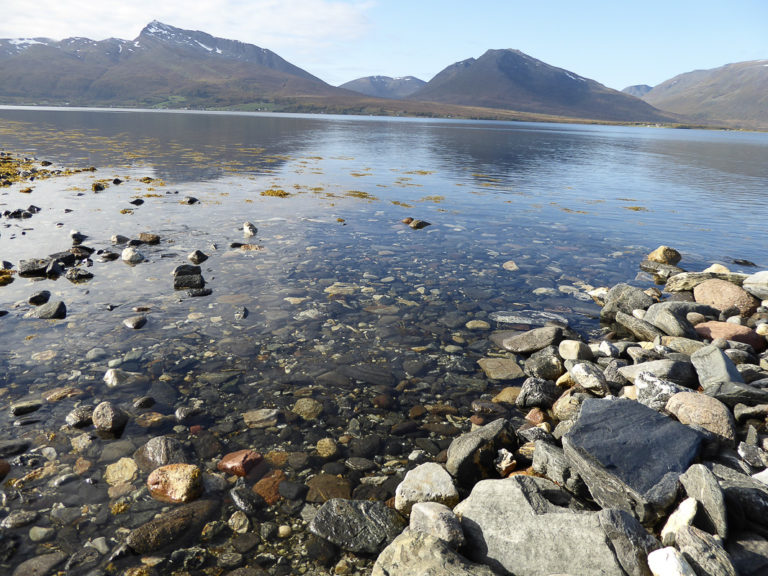 Throw a pebble to break the silence. Balsfjord © AM Hellberg Moberg