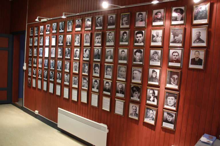 The Partisan Gallery showing the partisans and those who helped them. Many were killed, and some were also sent to prisoner camps in Norway, Germany and Poland © Steinar Borch Jensen