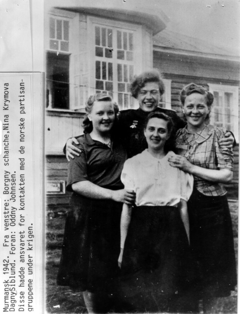 Young women from Kiberg working in intelligence in Murmansk during the war © Kiberg Historielag