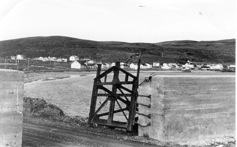 The view of Kiberg during the war