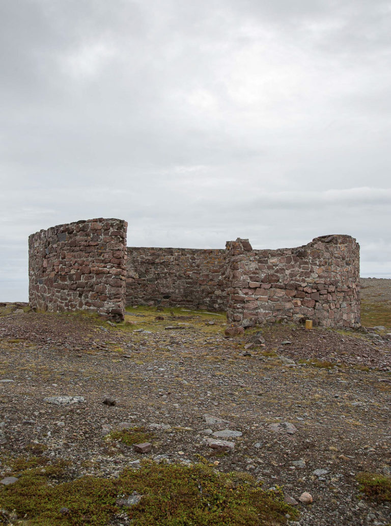Walled defences at Point Kibergneset, the easternmost point of Norway's mainland © William Copeland