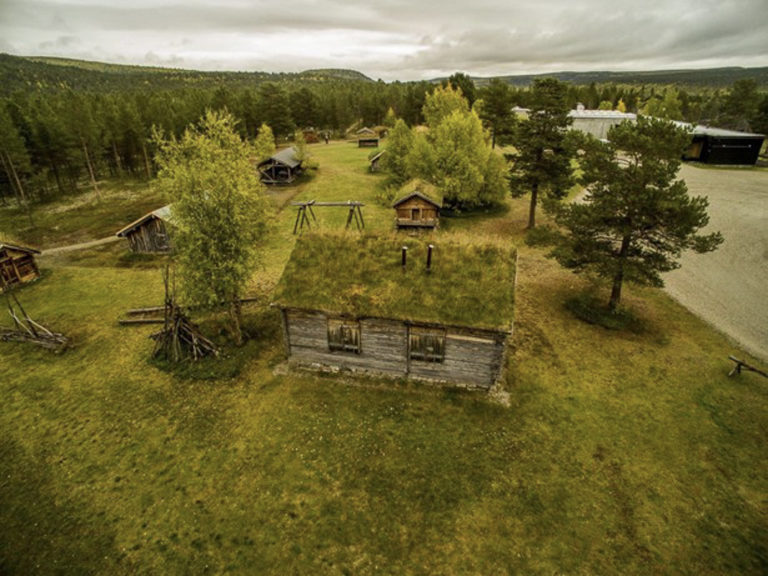 Aearial view of the open air museum connected with The Sami collections © RDM-SVD