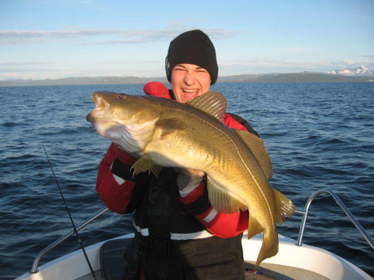 Du kan også fiske torsk, sei, lyr, hyse, brosme, uer, sild og makrell.