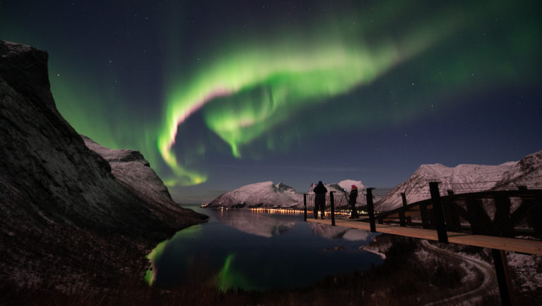 Northern lights on the coast of Tromsø, Northern Norway