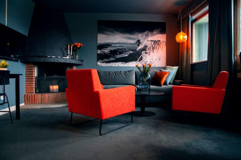 Suite med peis. Foto: Narvik Hotel Wivel