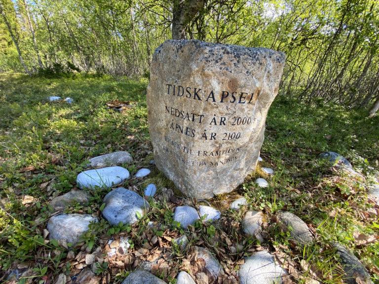 Tidskapsel på tusenårstedet. Foto: Jan-Erik Kristoffersen