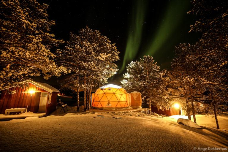 Overnatting i Dome.  Foto: Hege Enge Dekkerhus / Norwegian Wild