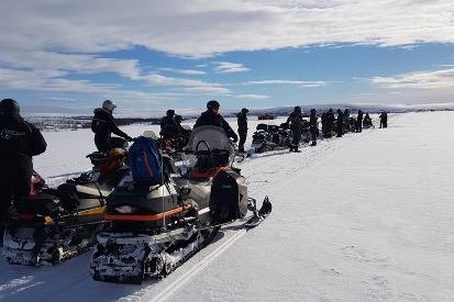 Snøscooter på Finnmarksvidda. Foto: PNH Norway