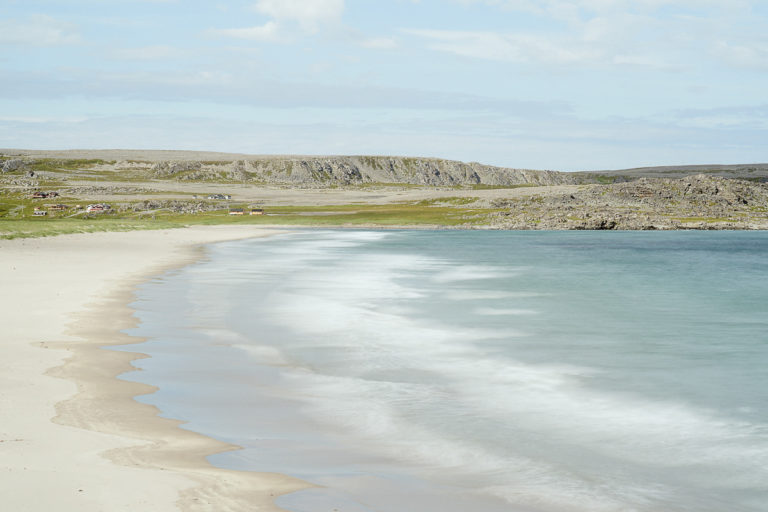 Soft sands and refreshing water temperatures. Very refreshing.. © Emile Holba / www.visitvaranger.no