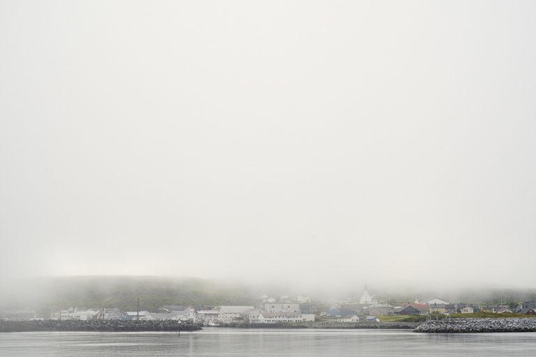 Dense fog over Berlevåg in the midst of summer © Emile Holba / www.visitvaranger.no