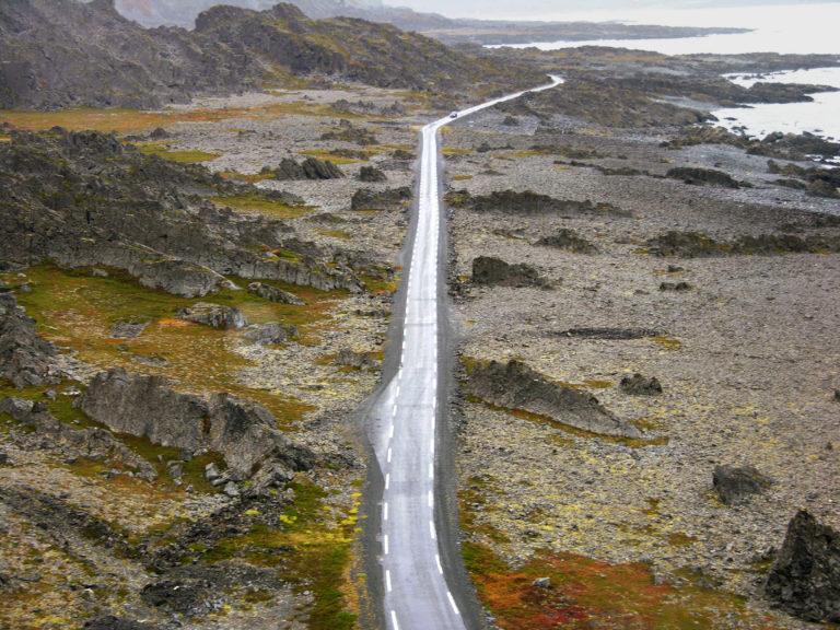 The road to Hamningberg ©Hjalmar Steinnes / Statens vegvesen