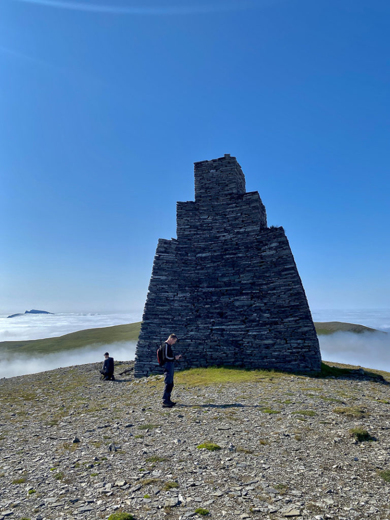 The beacon is nine metres tall and visible way out at sea. But apparently not today... © Katelin Pell